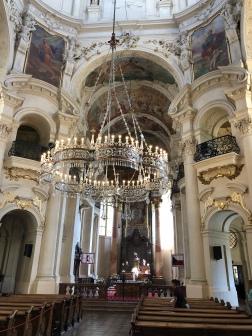 Giant chandelier inside